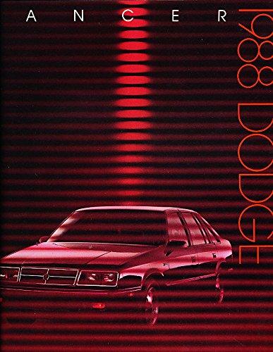 1988 Dodge Lancer and Shelby 12-page BIG Original Car Sales Brochure - Shelby 1988 Dodge