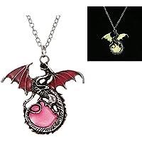 Magic Luminous Steampunk Punk Dragon Glow In The Dark Necklace Pendant Women Men