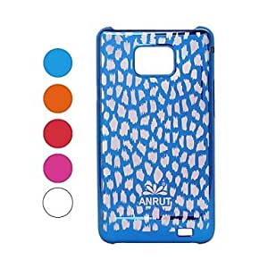 DUR Leopard Pattern Radium Carving Hard Case for Samsung Galaxy S2 i9100 , Red