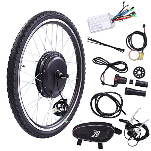 BWM.Co 26″ Front Wheel 36V 500W Electric Powered Bicycle Motor Cycling Conversion Kit Accessory Set