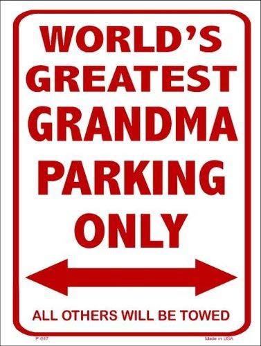 (Bargain World Worlds Greatest Grandma Metal Novelty Parking Sign (Sticky Notes))