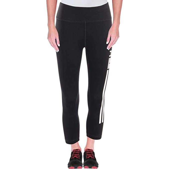 fbae748ba64c1 Tommy Hilfiger Womens Reflective Compression Athletic Leggings B/W L Black