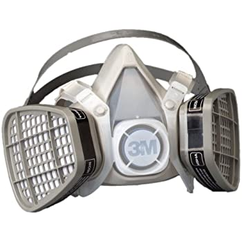3M Medium Yellow Thermoplastic Elastomer Half Mask 5000 Series Disposable Air Purifying ...