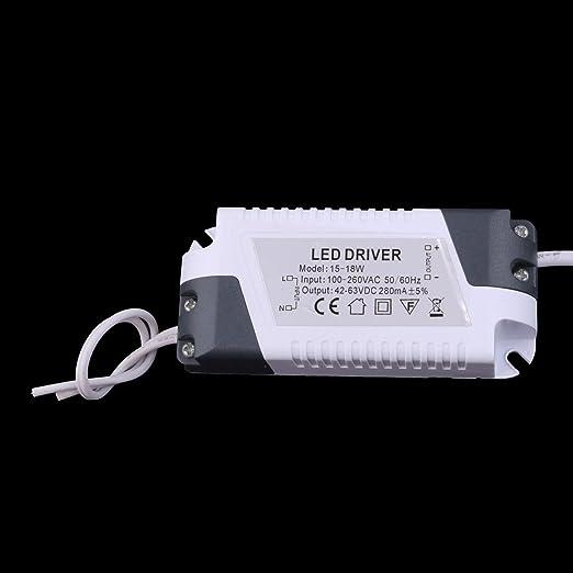 eDealMax blanca 18W Ronda Inicio regulable LED empotrada en el techo panel hacia abajo AC100-265V Luz - - Amazon.com