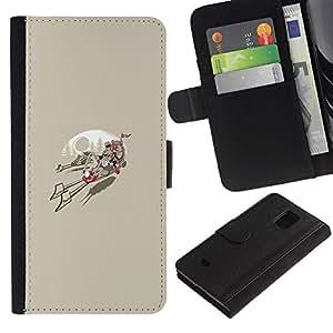 JackGot ( Ewok Race ) Samsung Galaxy S5 Mini (Not S5), SM-G800 la tarjeta de Crédito Slots PU Funda de cuero Monedero caso cubierta de piel