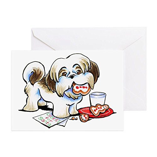 CafePress Shih Tzu Cookies Greeting Cards Greeting Card, Note Card, Birthday Card, Blank Inside Glossy