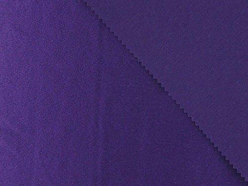 (Dalston Mill Fabrics Satin Back Crepe, Deep Purple, Polyester 4m)
