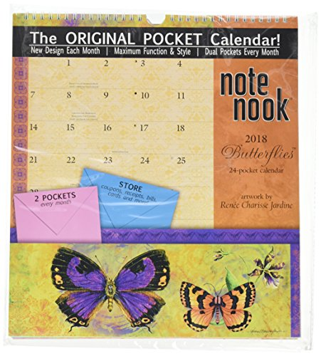 The LANG Companies WSBL Butterflies 2018 note Nook Office Wall Calendar (18997007194)