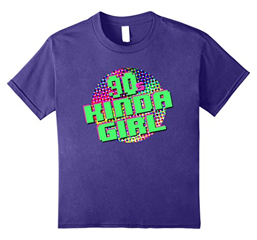 [Kids 90s Kinda Girl 90s Themed Shirt 10 Purple] (90s Themed Outfits)