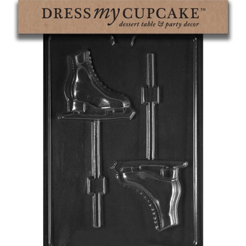 Dress My Cupcake Chocolate Candy Mold, Figure Skates