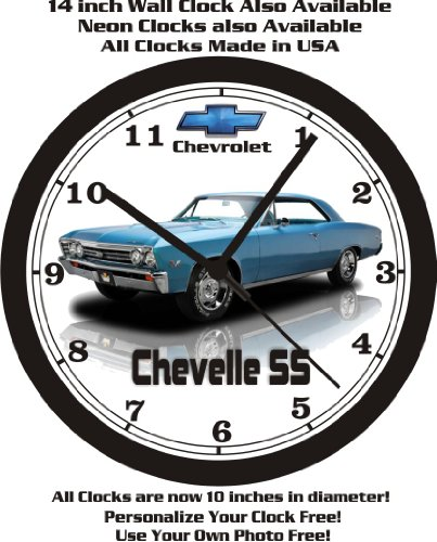 (1967 CHEVROLET CHEVELLE SS WALL CLOCK-FREE USA SHIP-Choose 1 of 2)