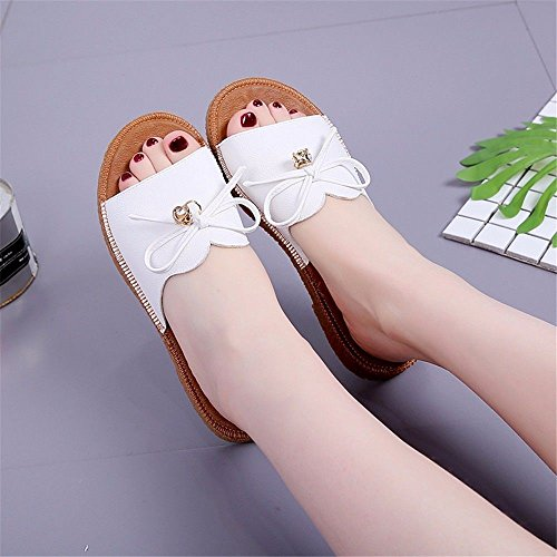 Plana Cool Una Base Antideslizante Zapatillas 37 con Blanco Verano Piscina Código BTBTAV Europeo paY6W
