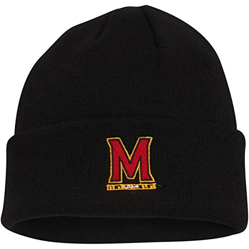 d1d870890ec Amazon.com   Maryland Terrapins Top of the World Simple Knit Hat with Cuff  Black   Sports   Outdoors
