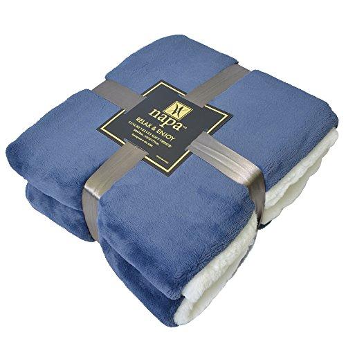 "Napa Super Soft Velvet Plush Throw Blanket 50""x 70"", Rev"