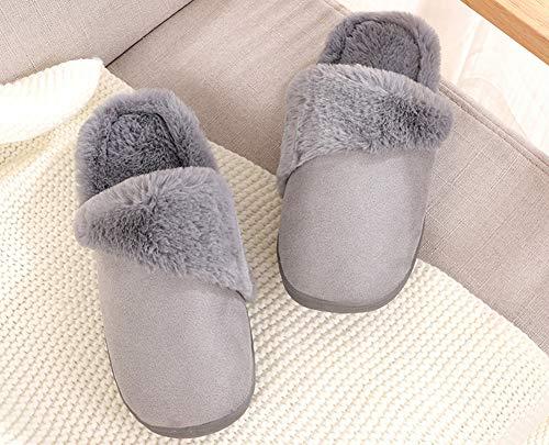 extérieur Hommes Porter Hiver Slip Intérieur Slippers Femmes Pantoufles Léger Japonais et Style Chaussures Hommes Coton Snone Accueil Automne à de Anti Gris Facile en et pour Femmes pcXp18qf
