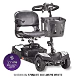 Drive Medical Scout Compact Travel Power Scooter, 4 Wheel, Extended Battery, White