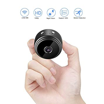 Cámara Espía Oculta, HomeYoo 1080P HD Mini WiFi Cámara Portátil Interior/Hogar Cámara IP