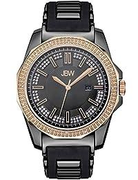 JBW Men's J6332D Regal Analog Black Dial Silicone Watch