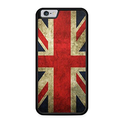 Großbritannien Great Britain Union Jack Flag iPhone 6 SILIKON SCHWARZ Hülle Cover Case Schale