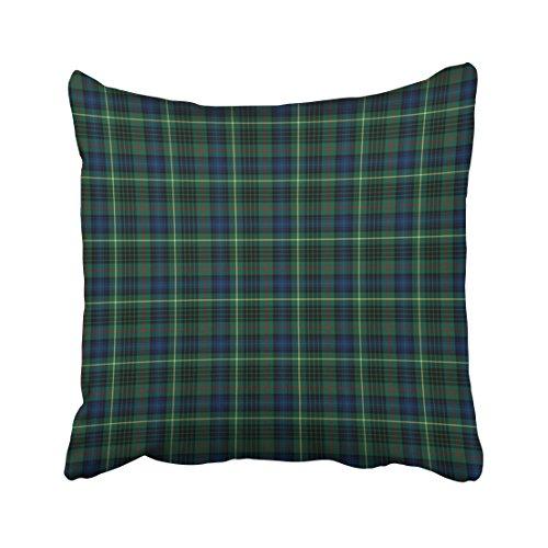Stewart Hunting Modern Tartan (Emvency Throw Pillow Covers Stewart Hunting Tartan Green And Blue Plaid Pillowcases Polyester 18 X 18 Inch Square With Hidden Zipper Home Sofa Cushion Decorative Pillowcase)