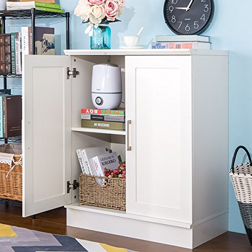 Harper&Bright Designs Small Floor Storage Cabinet With Double Doors (Bright Chipboard)