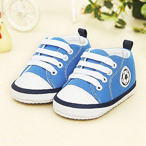 De Zapatillas Con Edad Años Nacido 1 Recién Bebé Zapatos Para Estampado Lona Niños Y Fútbol Deporte Yanhoo Antideslizantes Pequeños Azul 0 znIqtxt