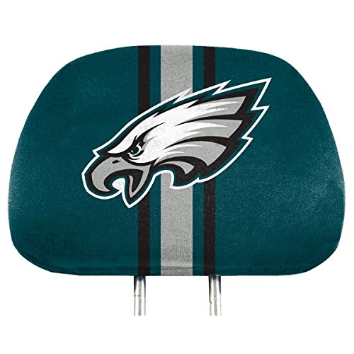 Philadelphia Eagles Eagle Head - NFL Philadelphia Eagles Full-Print Head Rest Covers, 2-Pack