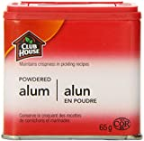 Club House, Quality Natural Herbs & Spices, Powdered Alum, Plastic Can, 65g
