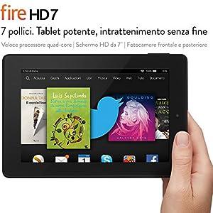 """Fire HD 7, schermo HD da 7"""", Wi-Fi, 8 GB (Nero) - Con offerte speciali"""