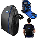 Acuvar BPACK03 Padded Backpack with Customizable Interior Padding and Rain Cover for SLR/DSLR Cameras, Action Digital Cameras, Drone & More Photography Accessories