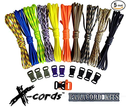 X-CORDS Paracord Bracelet Kits with How to
