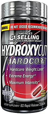 Hydroxycut Hardcore, America's #1 Selling Weight Loss Brand, 60 Rapid-Release Capsules, Hardcore Weight Loss, Extreme Energy, Maximum Intensity
