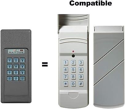 Multi Code 298601 Wireless Garage Door Gate Opener Keypad Amazon Com