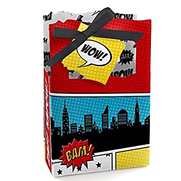 Superhero   Baby Shower Or Birthday Party Favor Boxes   Set Of 12