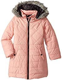 Girls' Too Multi Quilted Long Puffer Coat W/Printed