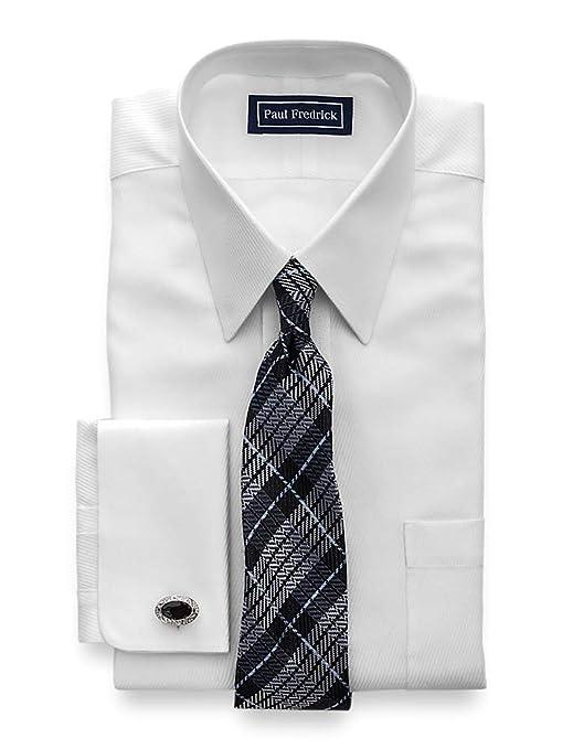 1920s Men's Dress Shirts Paul Fredrick Mens Classic Fit Egyptian Cotton Twill Dress Shirt $69.00 AT vintagedancer.com