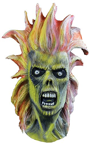 UHC Men's Scary Iron Maiden Eddie Theme Party Latex Halloween Costume Mask (Iron Maiden Eddie Halloween Costume)