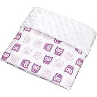Cobijita para Bebé, ideal para pañaleras, carreola o colecho, tela premium y 100% Algodón - Búhos