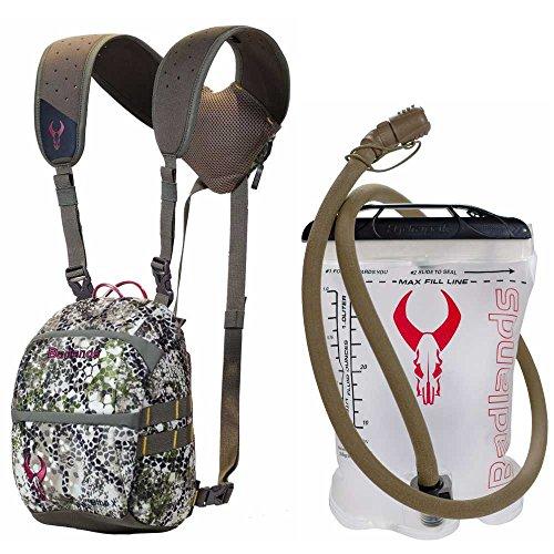 Badlands Optics Bino X Backpack-Friendly Binocular Harness - Approach w. 1L Interior Hydration Reservoir by Badlands
