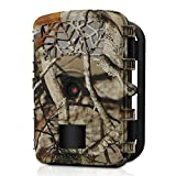 WOSPORTS Trail Camera Hunting Game Camera, 2019 Upgraded Motion Activated Night Vision up to 65ft,1080P Full HD Waterproof Wildlife Scouting Monitoring Home Security Camera, 88D (Trail Camera-Camo)