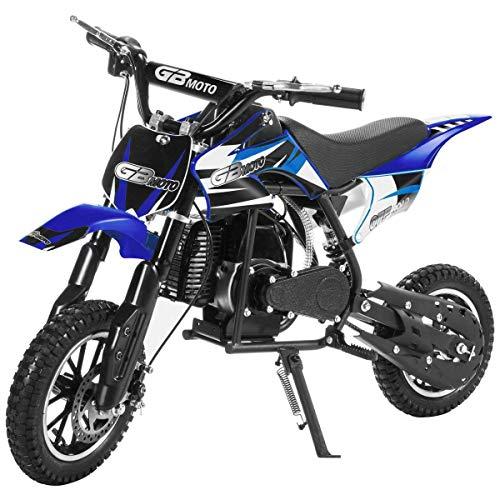 49CC 2-Stroke Gas Power Mini Dirt Bike,Pit Bike Dirt Off Road Motorcycle, Scooter (Blue)
