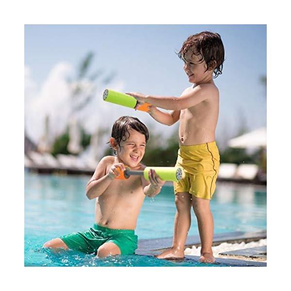 DF-IT 2018 Nuovi giochi da piscina per pistole ad acqua per bambini Squirt Pistole estraibili Super pistole ad acqua… 2 spesavip