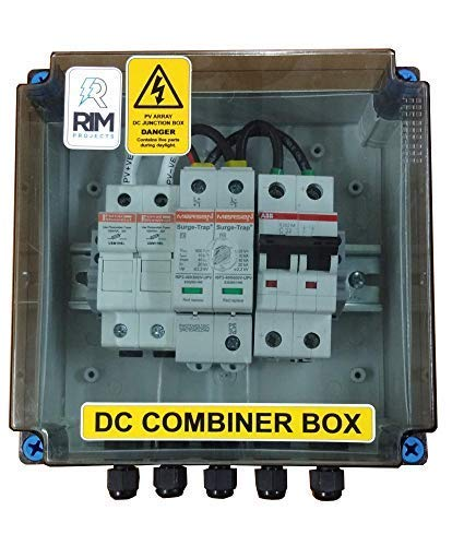 rimprojects solar 1input1output 440v 32a dc combiner box: amazon in: garden  & outdoors