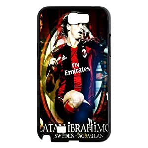 Soccer A C Milano Football Club Classic Design Print Black Case With Hard Shell Cover for Samsung Galaxy Note 2 N7100