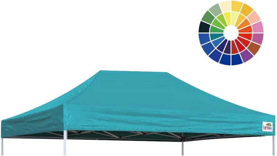 10x15, Turquoise Eurmax Pop Up Canopy Top Gazebo Tent Cover Replacement Top Only