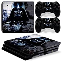 Ps4 PRO Playstation 4 Console Skin Decal Sticker Star Wars Darth Vader + 2 Controller Skins Set (PRO Only)