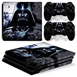 ZoomHit Ps4 PRO Playstation 4 PRO Console Skin Decal Sticker Star Wars Darth Vader + 2 Controller Skins Set (Pro Only)