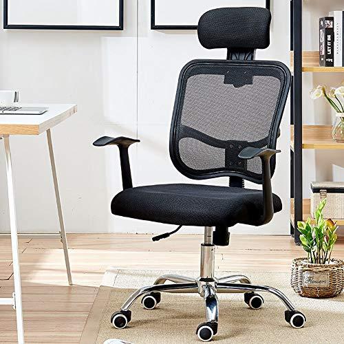 HLR kontorsstol skrivbordsstol PC nylon nät femstjärniga fötter nätstol ergonomisk justerbar kontorsstol svängbar spelstol kontorsmöbler