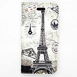 YULIN Tower Series Pattern PU Full Body Case With Card Slot and Stand for iPhone 5/5S