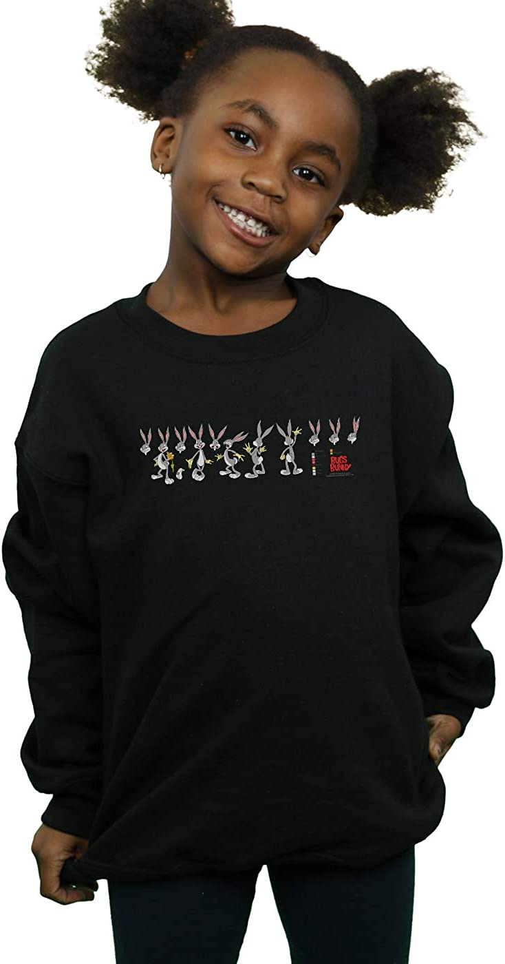 Absolute Cult Looney Tunes Girls Bugs Bunny Colour Code Sweatshirt